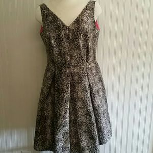 Eloquii Animal Print A Line Dress